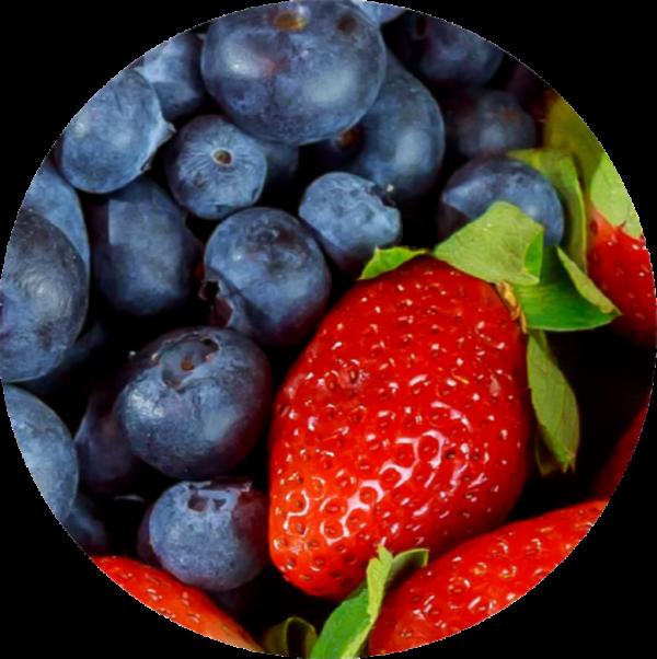 Mix de fresas y arándanos