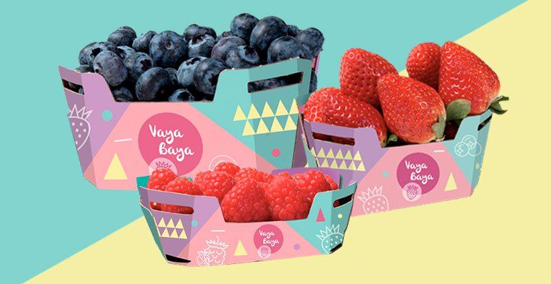 fresas, arándanos, frambuesas